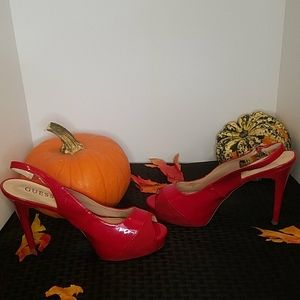 Sexy Red Stillettos Guess Size 9.5 Med
